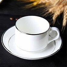 Aus Weißer Keramik Kaffeetasse Untertasse Set