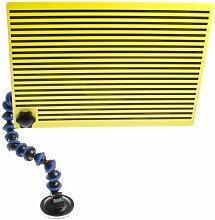 Ausbeulwerkzeug Reflektor Fixierschild Ausbeulreflektor Ausbeulschild PDR Schild Gelb