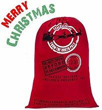 Ausein Weihnachtsbeutel aus Baumwolle (50x70cm),
