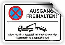 AUSGANG FREIHALTEN - Parken verboten Schild / PV-006 (60x40cm Aufkleber)