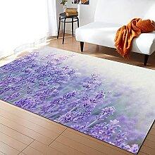 Ausgefallene Blumen-Lavendel-Pflanze-lila-Teppiche