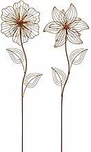 ausgefallener Gartenstecker Beetstecker Blume