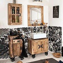 Ausgefallenes Badmöbel Set aus Mangobaum