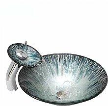 Ausgeglichenes Glaswaschbecken Kunst-Countertop