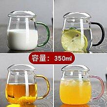 Auslaufsichere Klarglas Glas Teetasse kreative