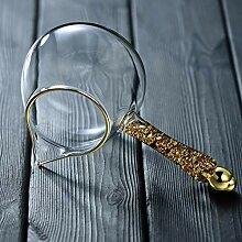 Auslaufsichere Klarglas Goldfolie Glas fair Tasse
