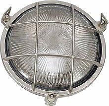 Außen Beleuchtung Nickel Echt-Messing IP64