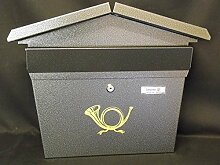 Außen Briefkasten Hausform typ 170 Silber,