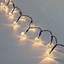 Außen/Innen Herz Lichterkette warmweiß,