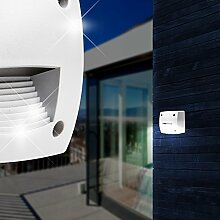 Aussen LED Wandleuchte / Grau / Treppenbeleuchtung Stufenbeleuchtung Stufenleuchte Treppenleuchte Außenleuchte
