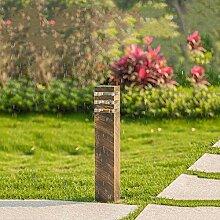 Außen Retro Wegeleuchte Bronze aus Aluminium und