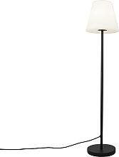 Außen Stehlampe schwarz mit weißem Schirm 35 cm
