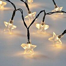 Außen Stern Lichterkette, 50 LEDs,