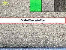 Außen Teppich | Nadelfilz Teppich, GUT-Siegel, emissions- und geruchsfrei, wasserabweisend |Bodenbelag im Freien | Größe wählbar | MadeInNature® (800 x 200 cm, Hellgrau)