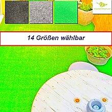 Außen Teppich | Nadelfilz Teppich, GUT-Siegel, emissions- und geruchsfrei, wasserabweisend |Bodenbelag im Freien | Größe wählbar | MadeInNature® (800 x 200 cm, Grasgrün)