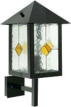 Außen Wand Leuchte Lampe Tiffany Technik Landhaus