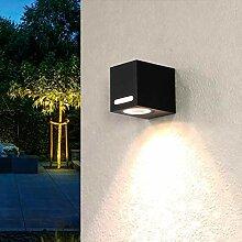 Außen Wandlampe Aluminium eckig IP44 Außenwand