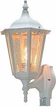 Außen Wandlampe mit Bewegungsmelder aus Alu weiß