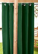 Außenbereich Wasserfest Fertig Gemacht Ösen Vorhang Gartenlaube Sommer Haus Pagoda, Erhältlich in 11 Farben und 5 Größen - Grün, 140cm x 244cm