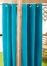 Außenbereich Wasserfest Fertig Gemacht Ösen Vorhang Gartenlaube Sommer Haus Pagoda, Erhältlich in 11 Farben und 5 Größen - Türkis, 140cm x 183cm
