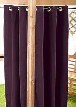 Außenbereich Wasserfest Fertig Gemacht Ösen Vorhang Gartenlaube Sommer Haus Pagoda, Erhältlich in 11 Farben und 5 Größen - Lila, 140cm x 214cm