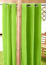 Außenbereich Wasserfest Fertig Gemacht Ösen Vorhang Gartenlaube Sommer Haus Pagoda, Erhältlich in 11 Farben und 5 Größen - Limettengrün, 140cm x 214cm