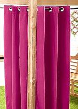 Außenbereich Wasserfest Fertig Gemacht Ösen Vorhang Gartenlaube Sommer Haus Pagoda, Erhältlich in 11 Farben und 5 Größen - Rosa, 140cm x 244cm