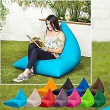 Außenbereich Wasserfest Pyramidenförmigen Gefüllt Sitzsack Lounger Sessel, Erhältlich in 11 Farben - Braun