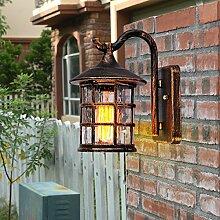 Außenlampe antike Wandlampe rustikale Wandlampe