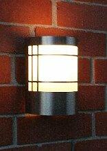 """Außenlampe Außenleuchte mit Dämmerungsschalter lampe Edelstahl LED warmweiß """" Made for Licht-Idee®"""