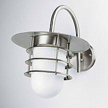 Außenlampe Edelstahl IP44 maritimes Design