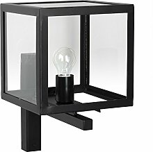 Außenlampe Loosdrecht, Edelstahl, schwarz