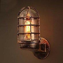 Außenlampe Vintage Gitter Lampe Wandlampe
