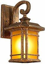 Außenlampe Vintage Retro Schwarz Gold E27