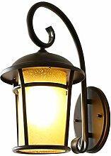 Außenlampe Vintage Schwarz Wandlampe Wasserdicht