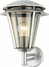 Außenlampe Wandlampe Außenleuchte Edelstahl Außenbeleuchtung LED Bewegungsmelder (Wandlampe Hermes A)