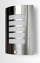 Aussenleuchte 115A1 mit Bewegungsmelder Wandleuchte Deckenleuchte Wandlampe Aussenwandleuchte Edelstahl E27 Fassung Aussenwandlampe