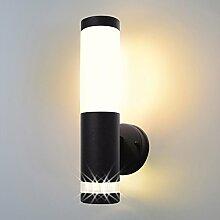Aussenleuchte 232A2 schwarz Wandleuchte Aussenwandlampe Wandlampe Aussenwandleuchte Edelstahl E27 Fassung