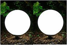 Außenleuchte 2er Set (50+50 cm) Marlon Kugellampe