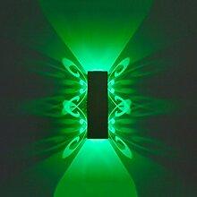Außenleuchte Aluminium Led Licht Fixture Up Und Down Led Wandleuchte 2W Batteryfly Modern Fashion Wandleuchte Indoor ( Farbe : Green light , watt : 6W )