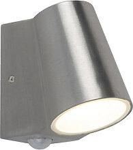 Außenleuchte Aluminium mit Bewegungsmelder inkl.