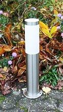 Außenleuchte / Außenlampe / Standlampe / Standleuchte / Sockellampe / Sockelleuchte / Wegeleuchte / Weglampe / Hoflampe / Hofleuchte / Gartenlampe / Gartenleuchte / Gartenbeleuchtung aus Edelstahl mit der Höhe von 45cm