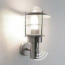 Außenleuchte Außenlampe Wandleuchte mit Bewegungsmelder Edelstahl E27 Aussenwandleuchte Lampe Lampen 251