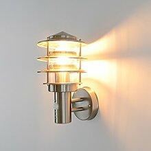 Aussenleuchte Aussenlampe Wandleuchte Wandlampe Edelstahl E27 249A1