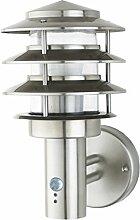 Aussenleuchte Aussenwandleuchte Aussenlampe Gartenlampe LED E27 Edelstahl Lampe (Wandlampe Tethys BWG)