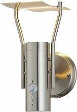 Aussenleuchte Aussenwandleuchte Aussenlampe Gartenlampe LED E27 Edelstahl Lampe (Wandlampe Callisto BWG)