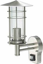 Außenleuchte E27 Edelstahl Lampe Wandleuchte Außenlampe Gartenlampe LED Leuchte (Wandlampe Venus BWG)
