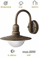 Außenleuchte E27 Edelstahl Lampe Wandleuchte