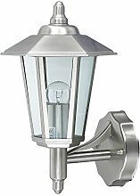 Außenleuchte E27 Edelstahl Lampe Wandleuchte Außenlampe Gartenlampe LED Leuchte (Wandlampe Kandelaber)