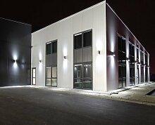 Außenleuchte GP-235, Wandlampe, Wandstrahler, Gartenfassung IP54 + 2x LED SMD PanderLights (Kaltweiß)